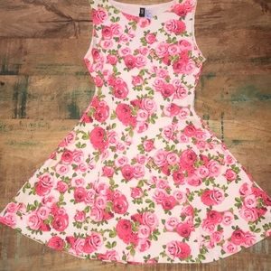 Divided | Floral Skater Dress, Size S
